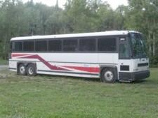Charter bus located in Chicago suburbs